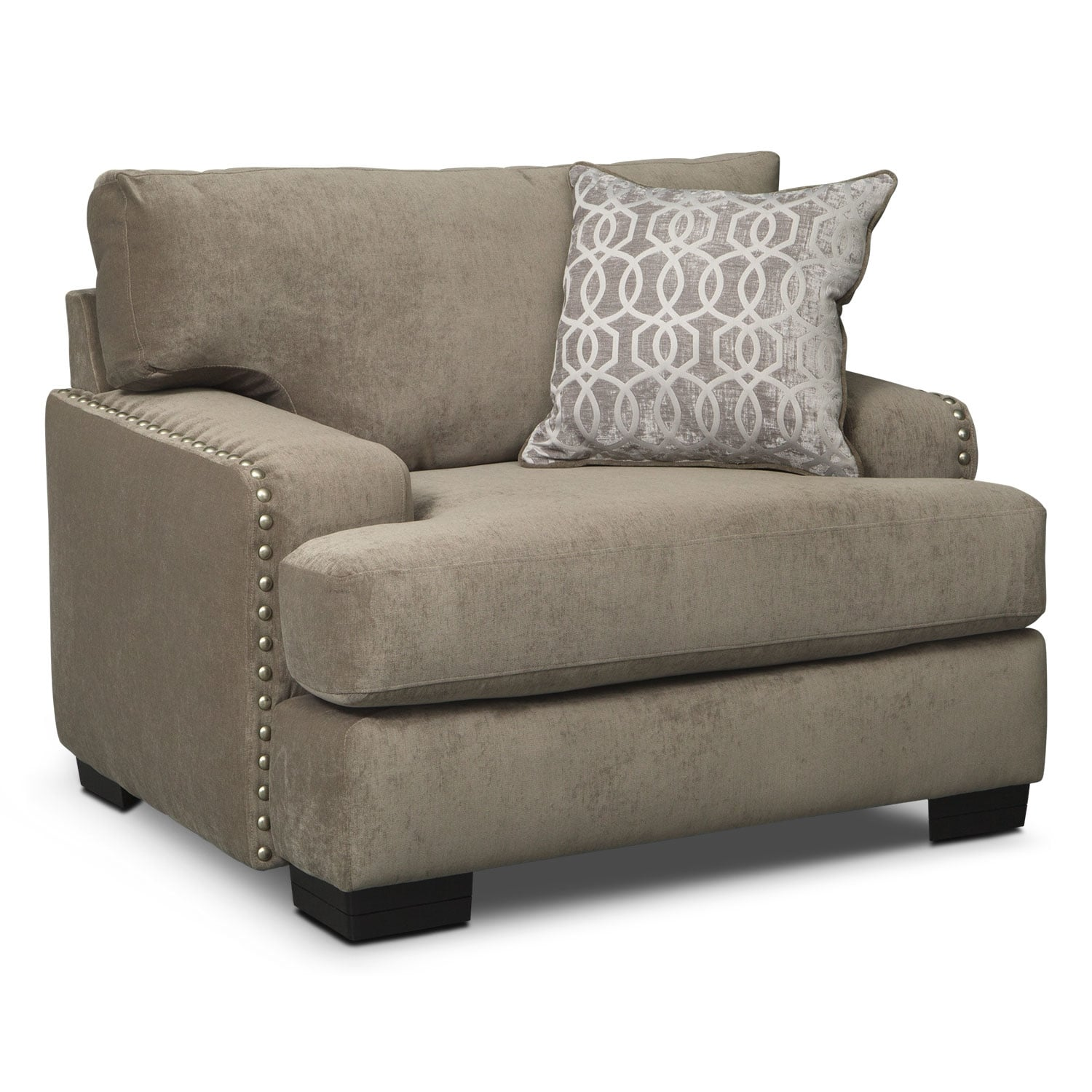 Tempo 2 Piece Sectional with Left Facing Chaise and Chair Set