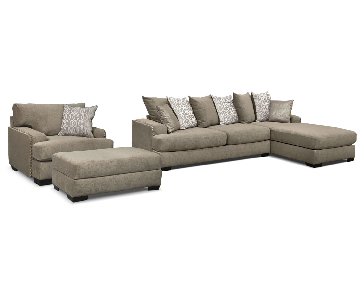 the tempo sectional collection platinum