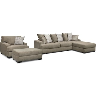 The Tempo Sectional Collection - Platinum