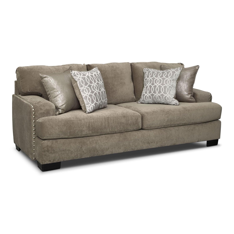 Living Room Furniture - Tempo Sofa - Platinum