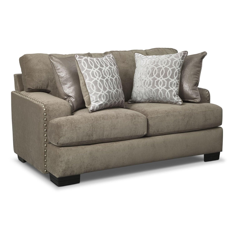 Living Room Furniture - Tempo Loveseat - Platinum