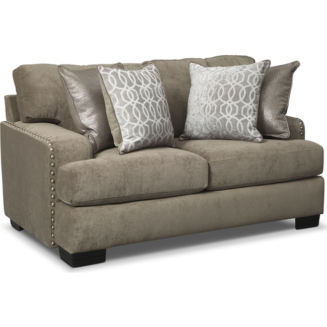 Living Room Furniture - Tempo Loveseat - Platinum