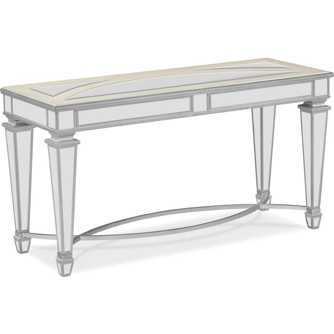 Accent and Occasional Furniture - Royale Sofa Table - Mirror