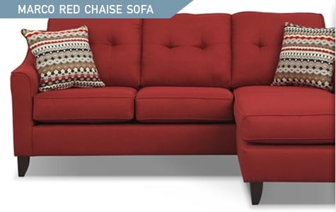 Shop the Marco Red Chaise Sofa