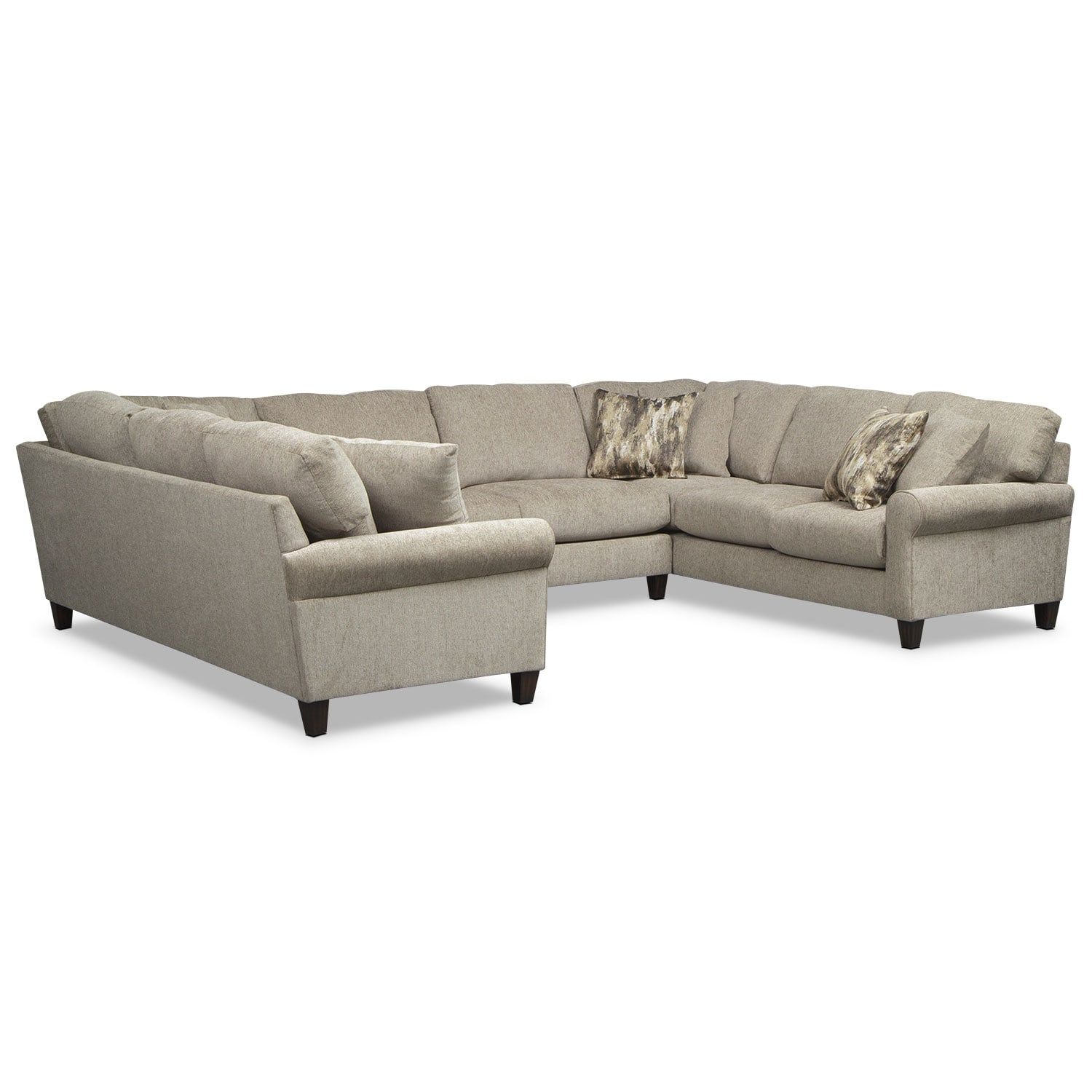 Karma 3-Piece Sectional - Mink