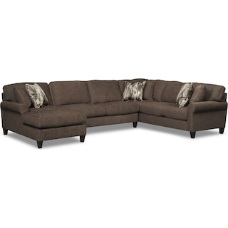 Karma 3-Piece Left-Facing Sectional - Smoke