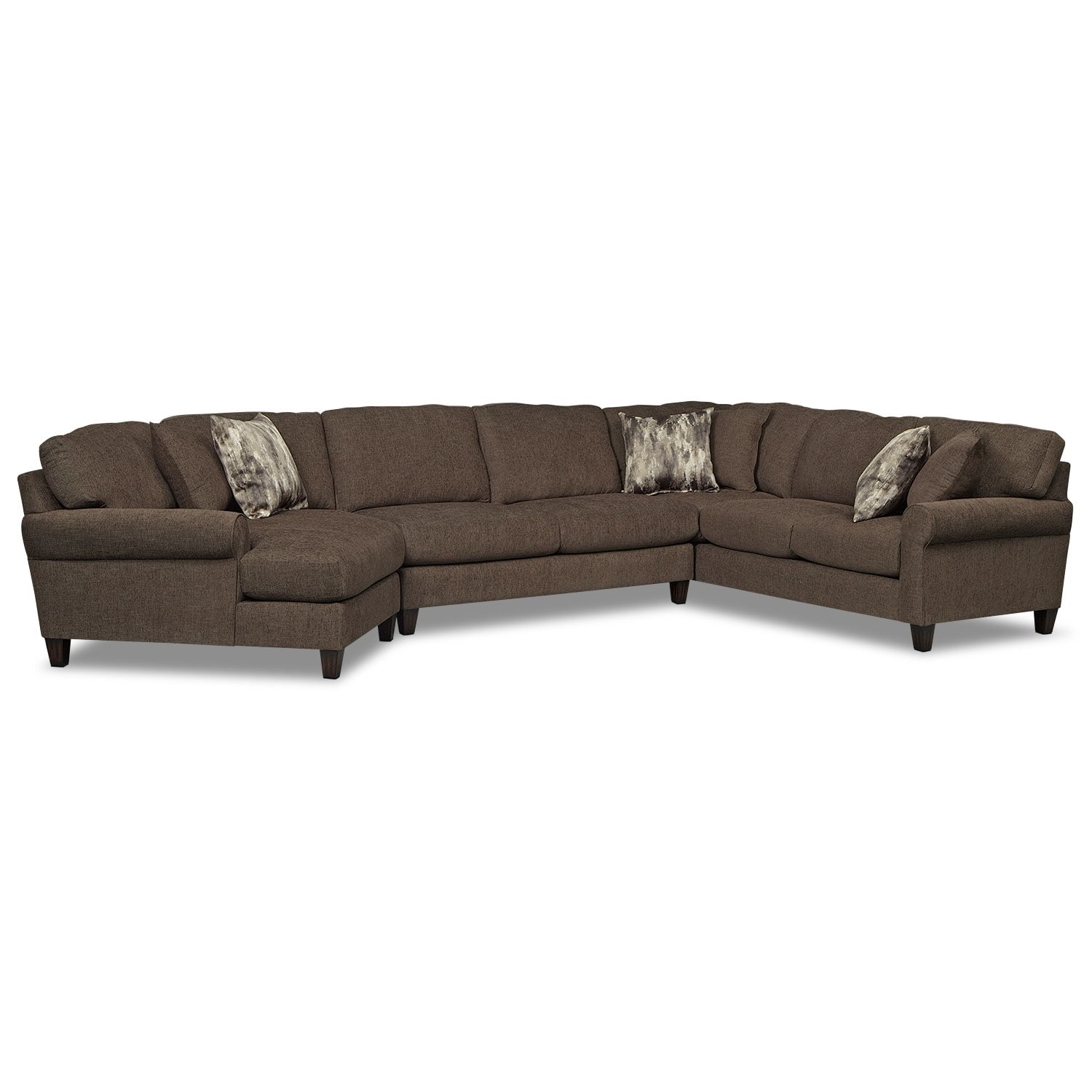 Sectional sofas american signature american signature for Affordable furniture 3 piece sectional in wyoming saddle