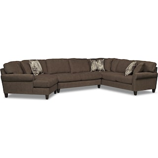 Karma 3-Piece Sectional with Left-Facing Cuddler - Smoke