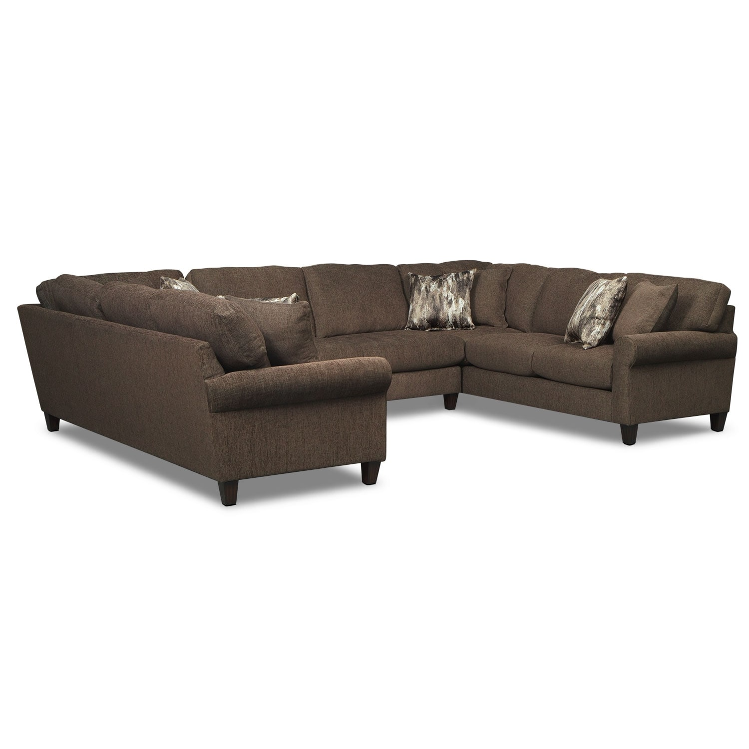 Karma 3-Piece Sectional - Smoke