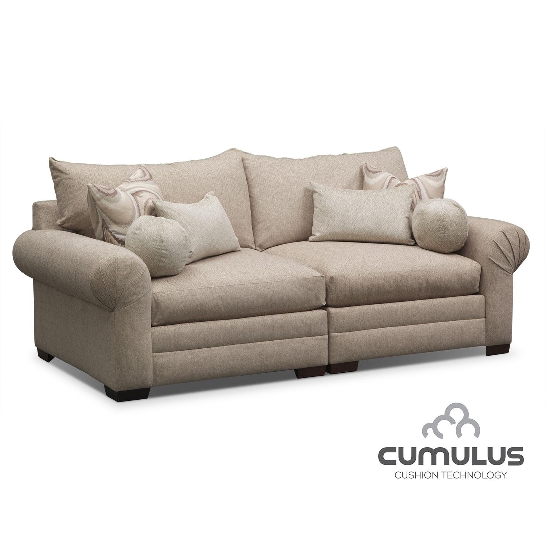 Living Room Furniture - Wilshire Sofa - Cream