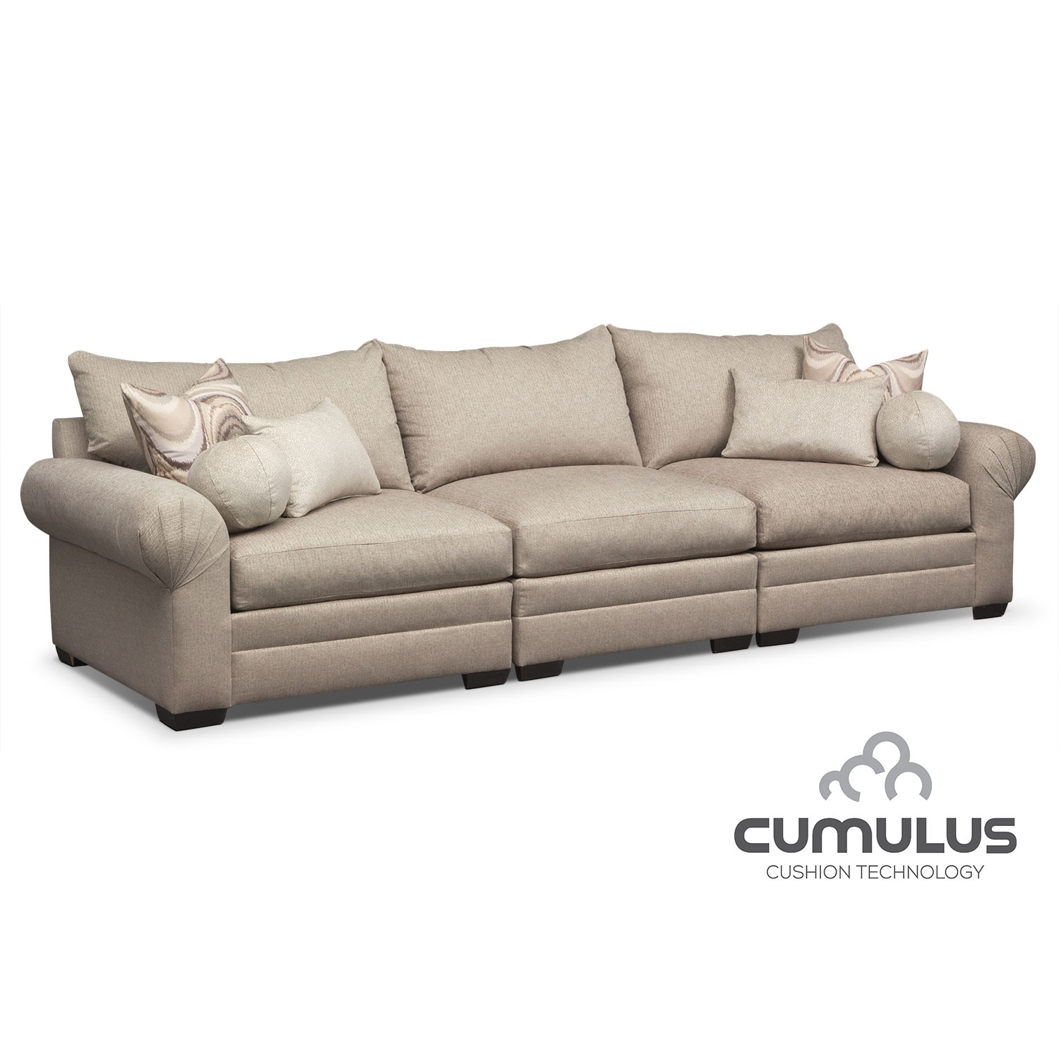 Wilshire 3-Piece Sectional - Cream