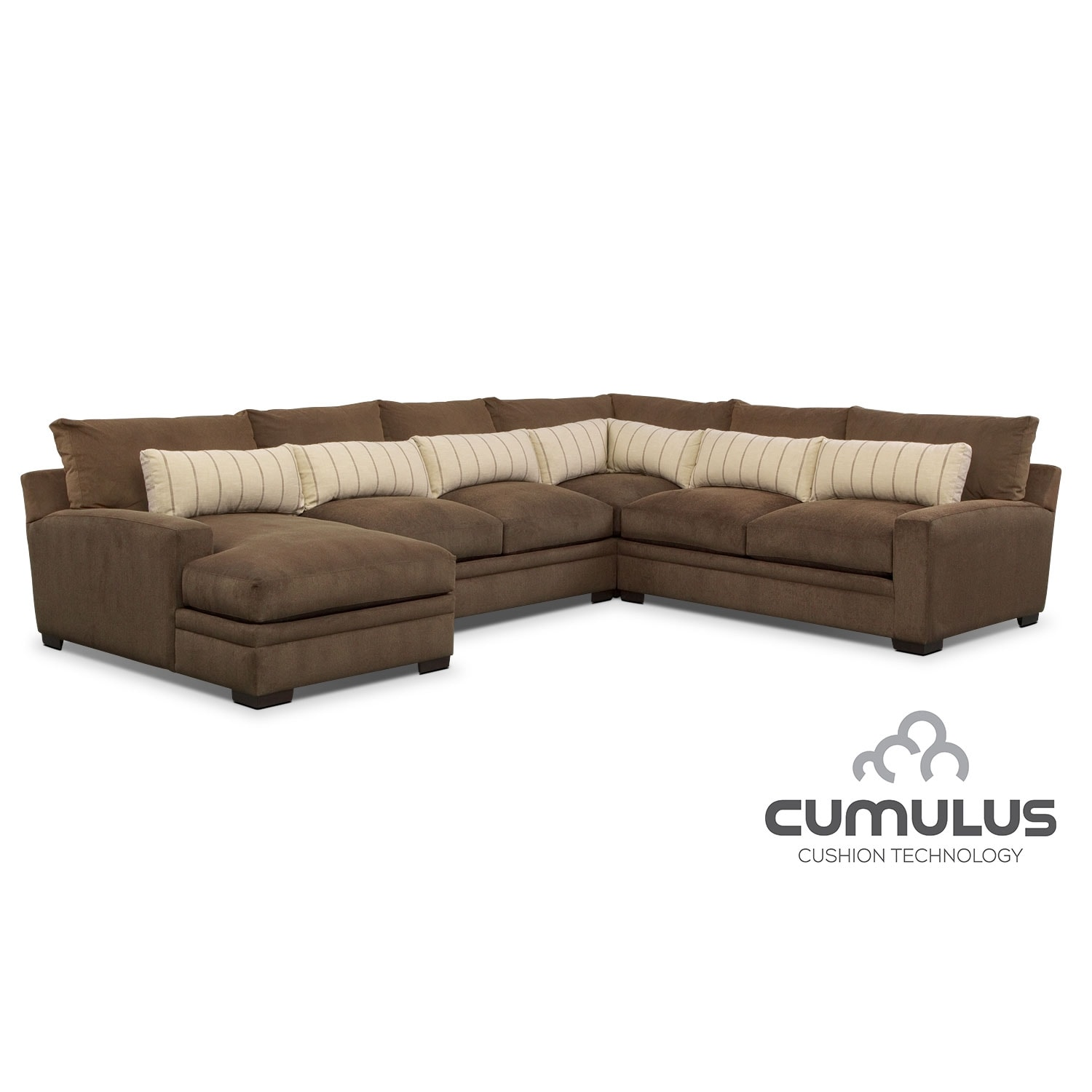 Living Room Furniture - Ventura 4 Pc. Sectional (Reverse)