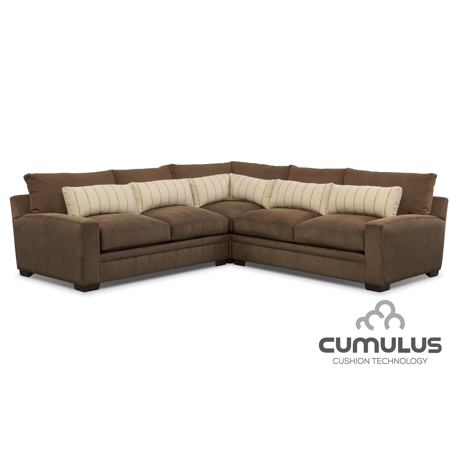 Ventura 3-Piece Sectional - Brown
