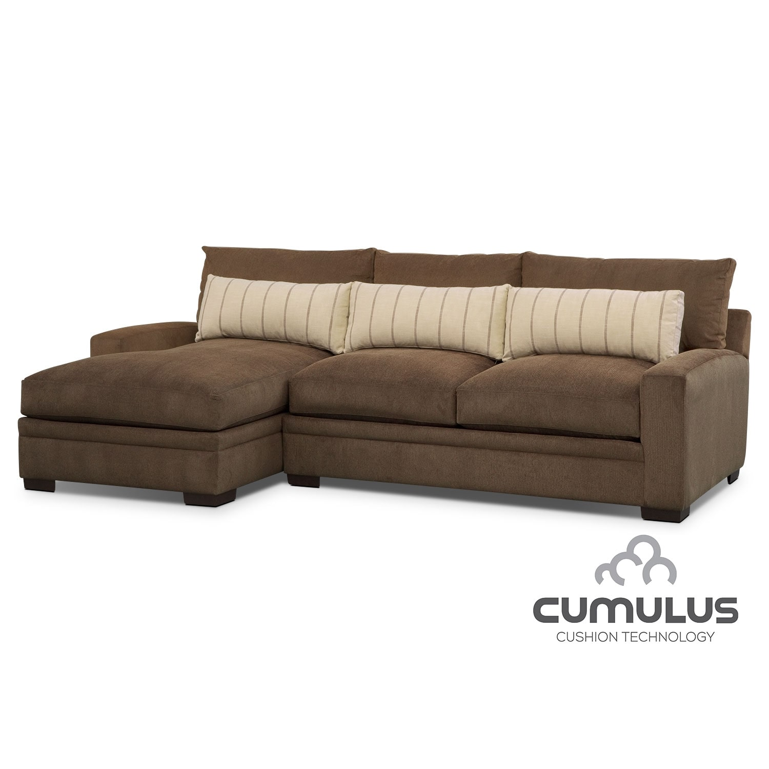 Living Room Furniture - Ventura 2 Pc. Sectional (Reverse)