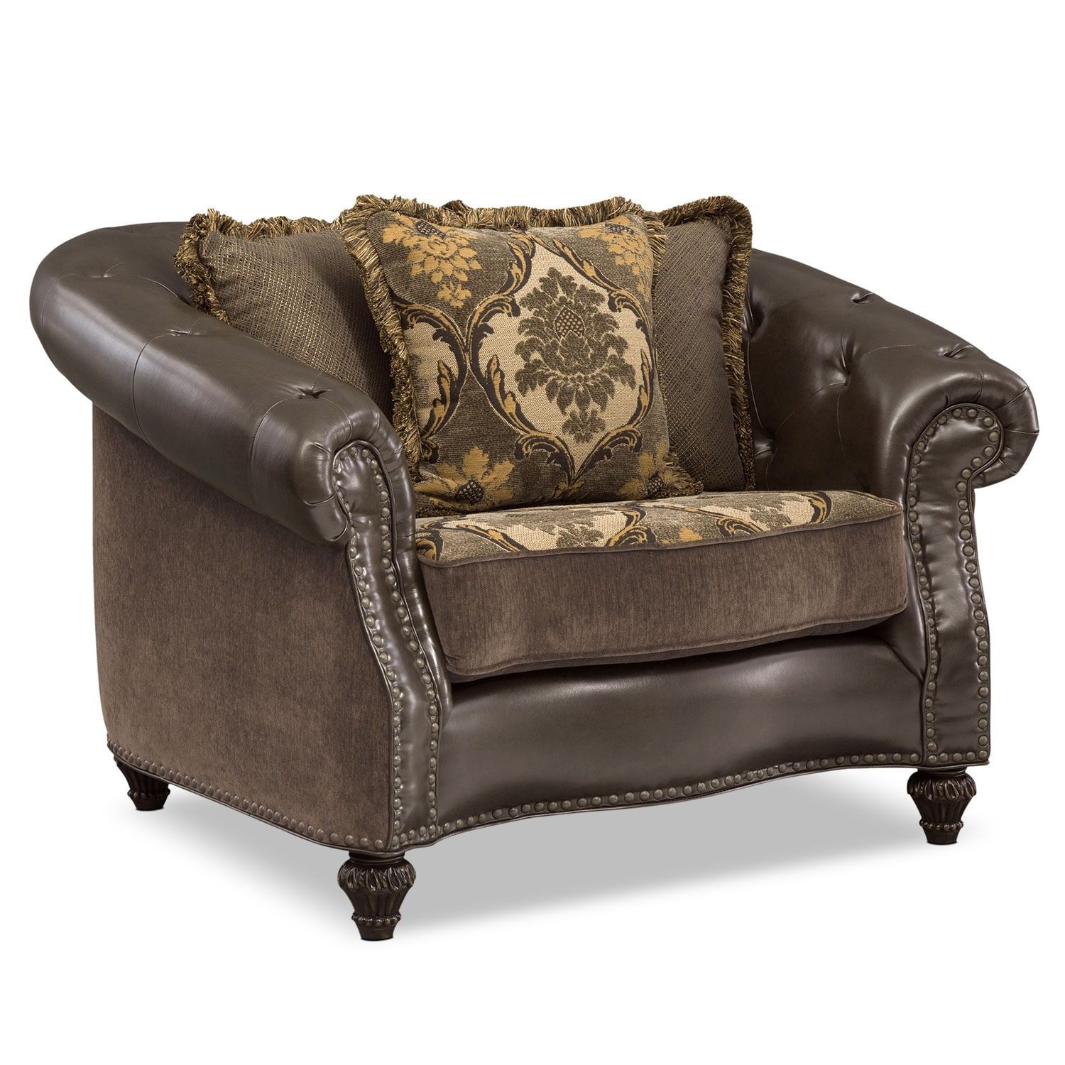 Living Room Furniture - Nicholas Chair - Chocolate