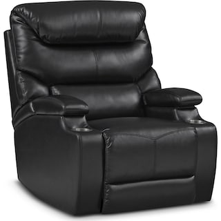 Saturn Dual-Power Recliner - Black