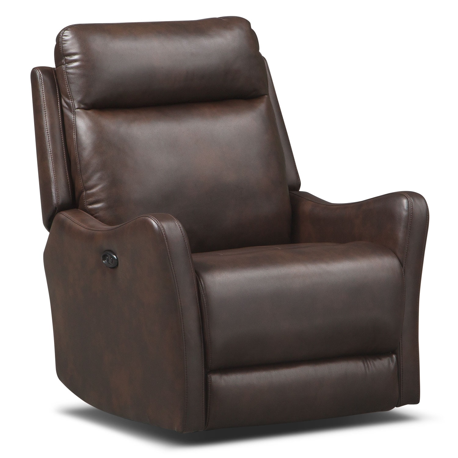 Living Room Furniture - Enzo Power Recliner - Brown