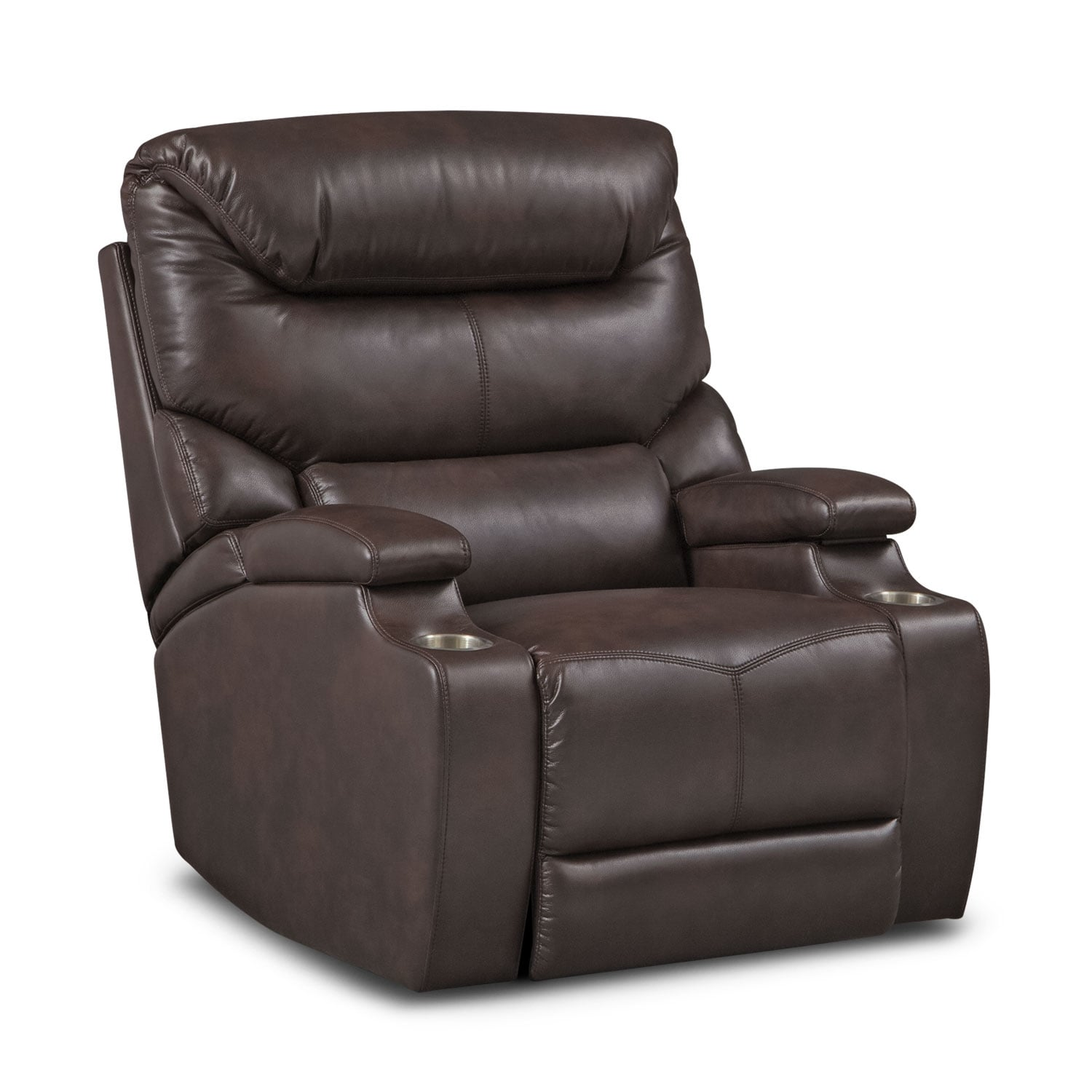 Living Room Furniture - Saturn Power Recliner - Brown