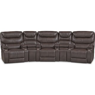 Saturn 5-Piece Dual-Power Home Theater Sectional