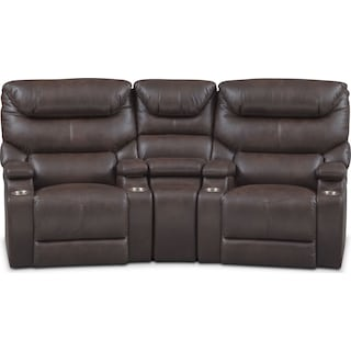 Saturn 3-Piece Dual-Power Home Theater Sectional