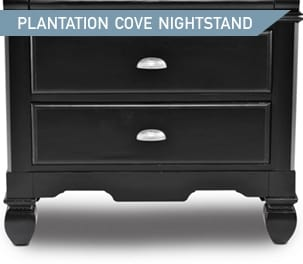 Shop the Plantation Cove Black Nightstand