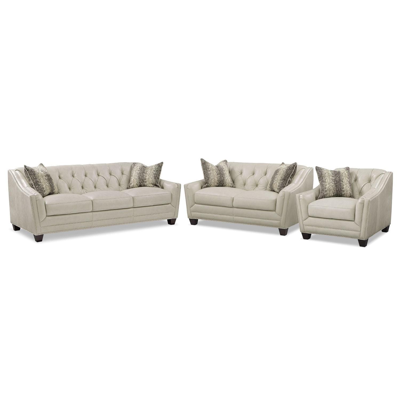 Living Room Furniture - Alexis Vanilla 3 Pc. Living Room