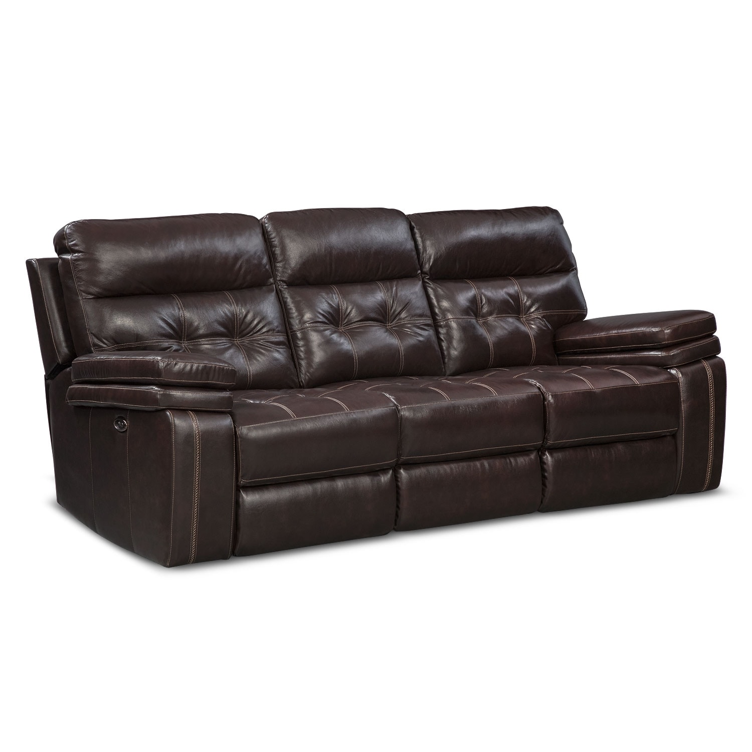 Brisco Power Reclining Sofa   Brown By One80