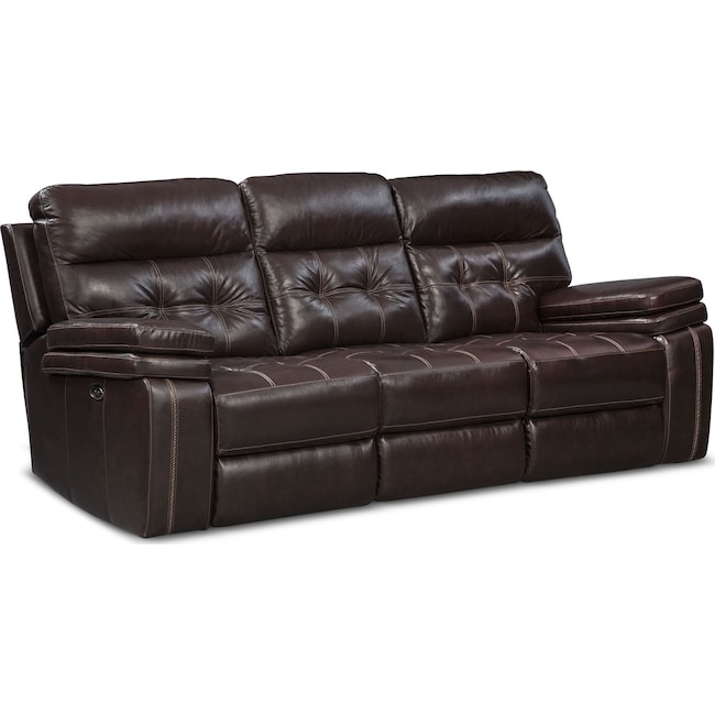 Living Room Furniture Brisco Reclining Sofa