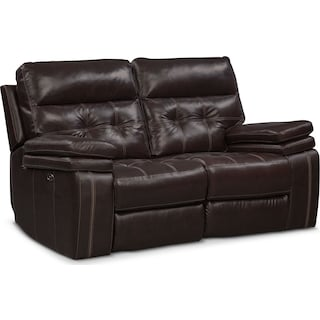 Brisco Power Reclining Loveseat - Brown