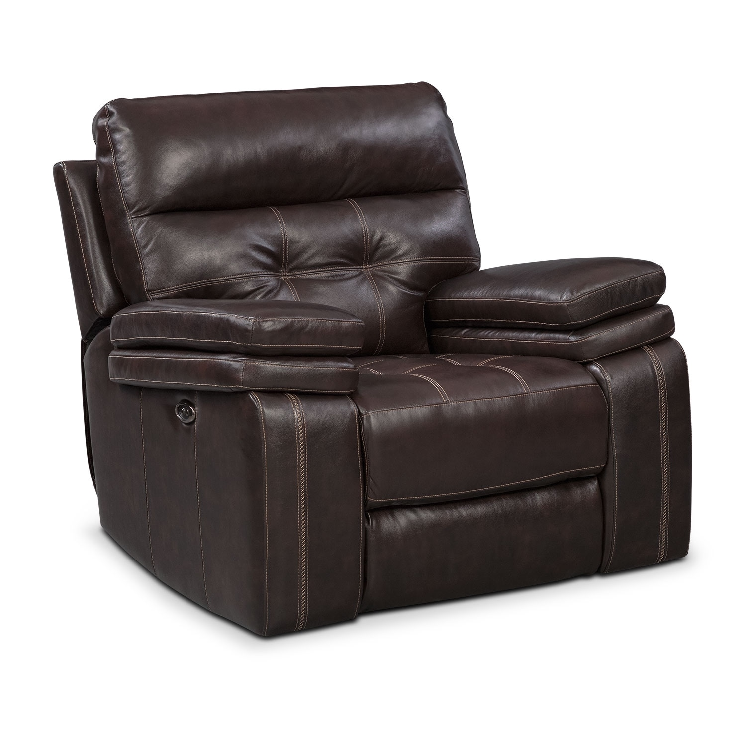 Brisco Brown Power Glider Recliner
