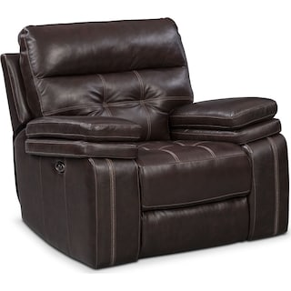 Brisco Power Glider Recliner - Brown