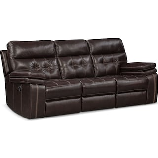 Brisco Manual Reclining Sofa - Brown