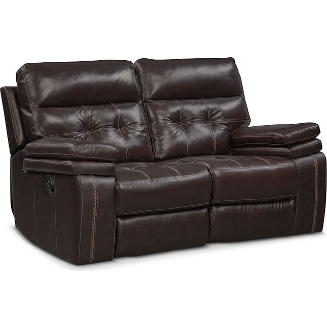 Living Room Furniture - Brisco Manual Reclining Loveseat