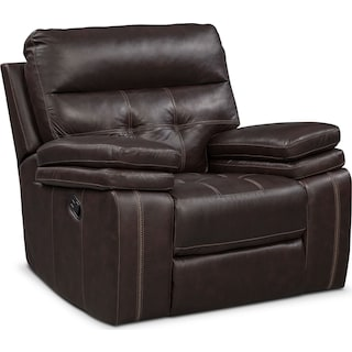 Brisco Manual Recliner - Brown