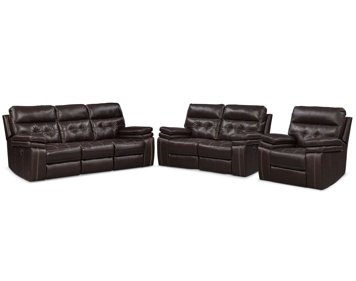The brisco manual reclining collection brown