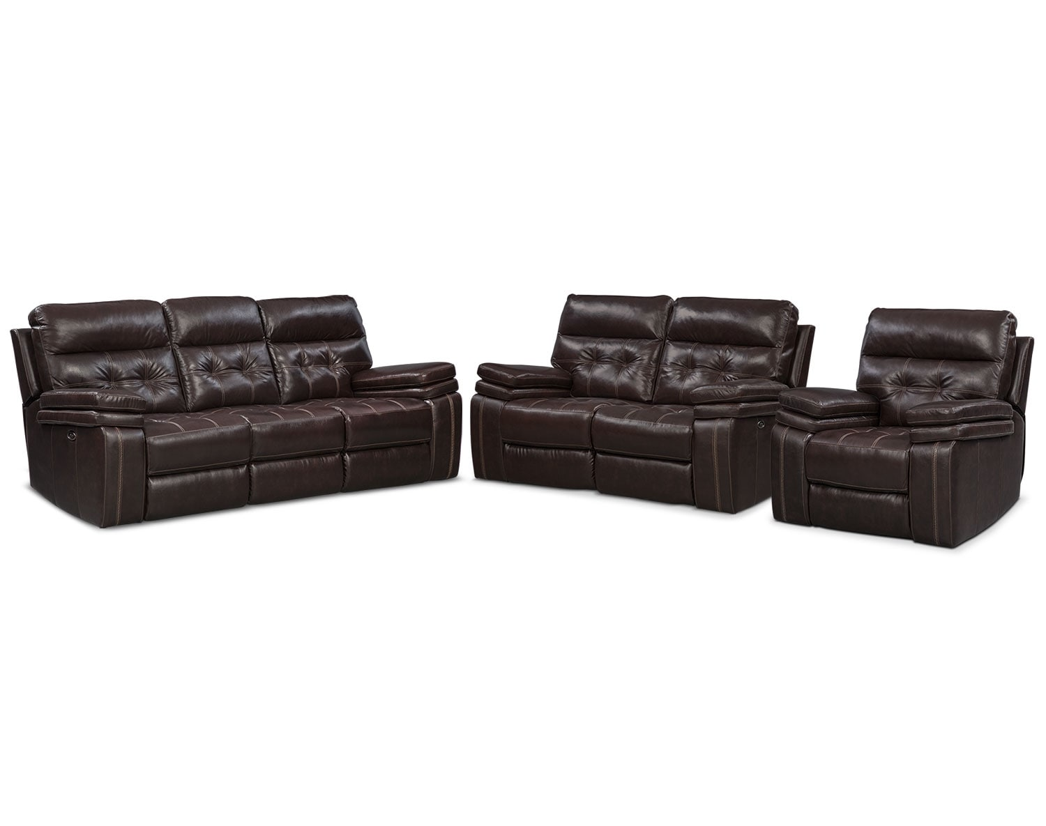 Leather Living Room Furniture American Signature Furniture ~ Payton Power Reclining Sofa