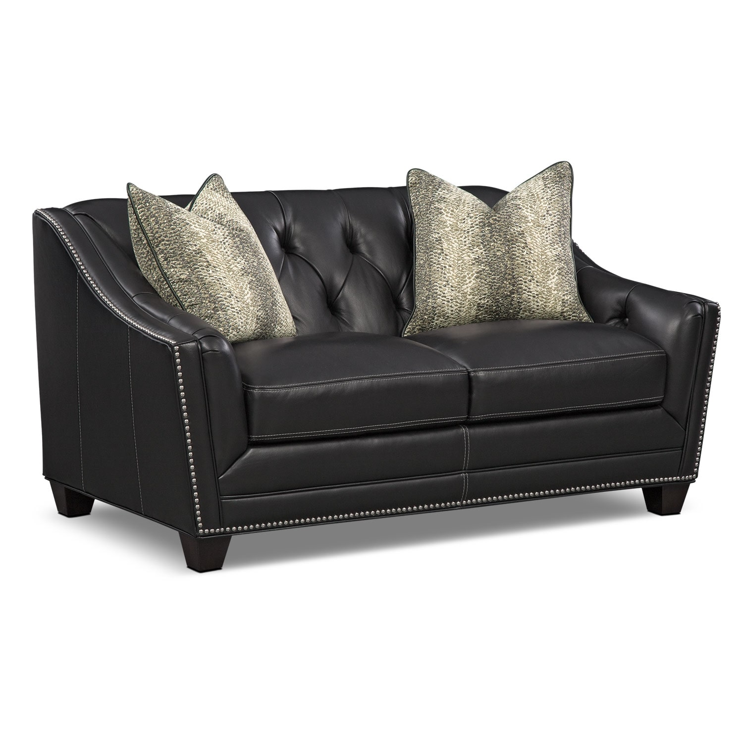 Living Room Furniture - Alexis Midnight Loveseat