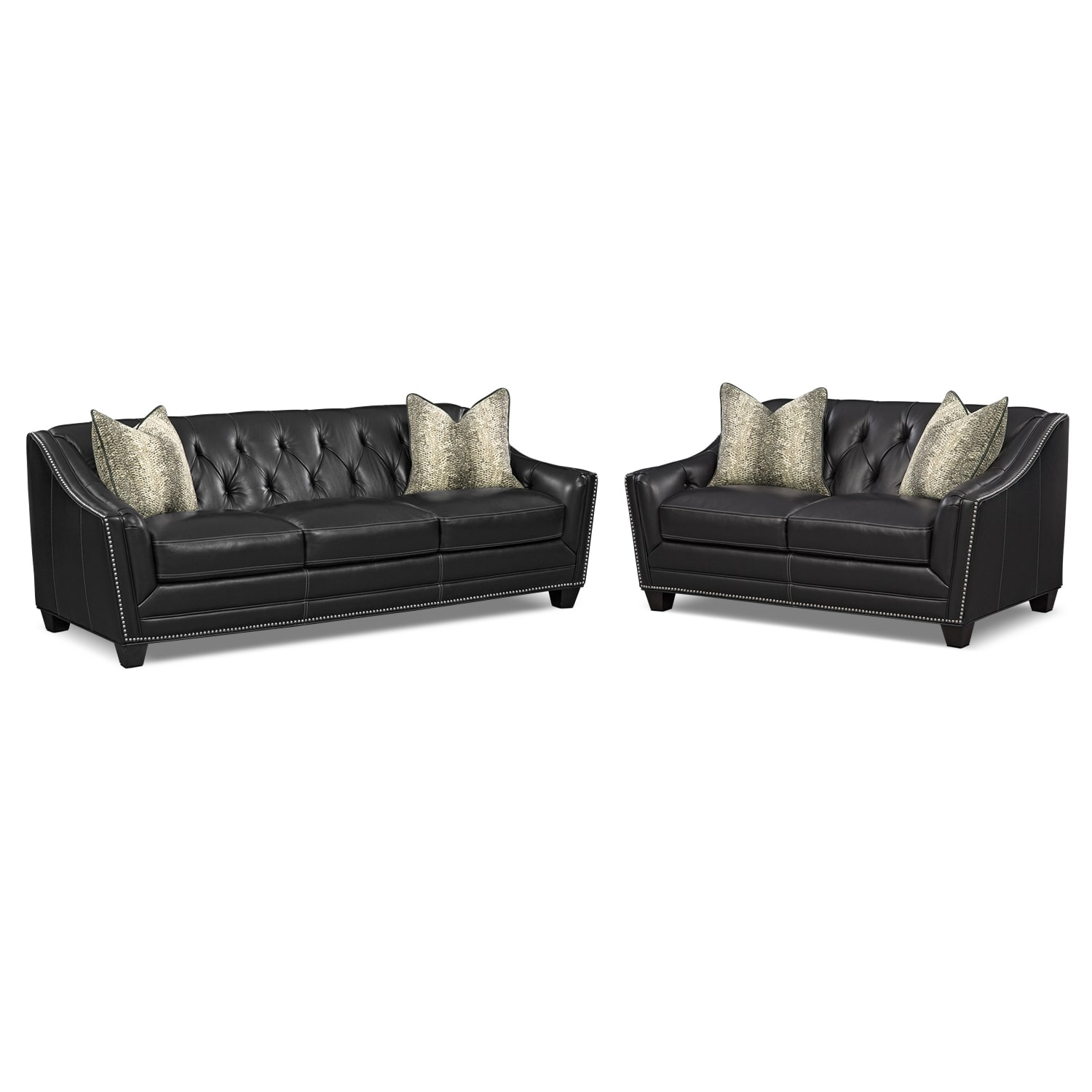 Living Room Furniture - Alexis Midnight 2 Pc. Living Room