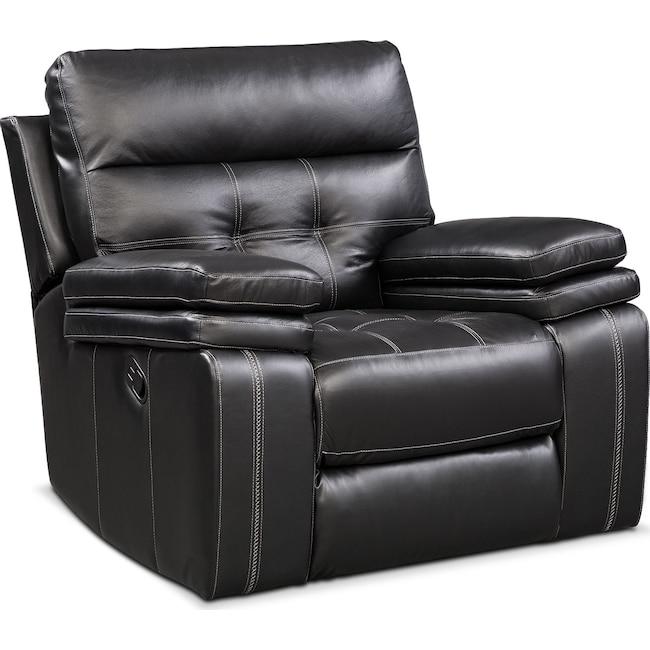 Living Room Furniture - Brisco Manual Recliner - Black