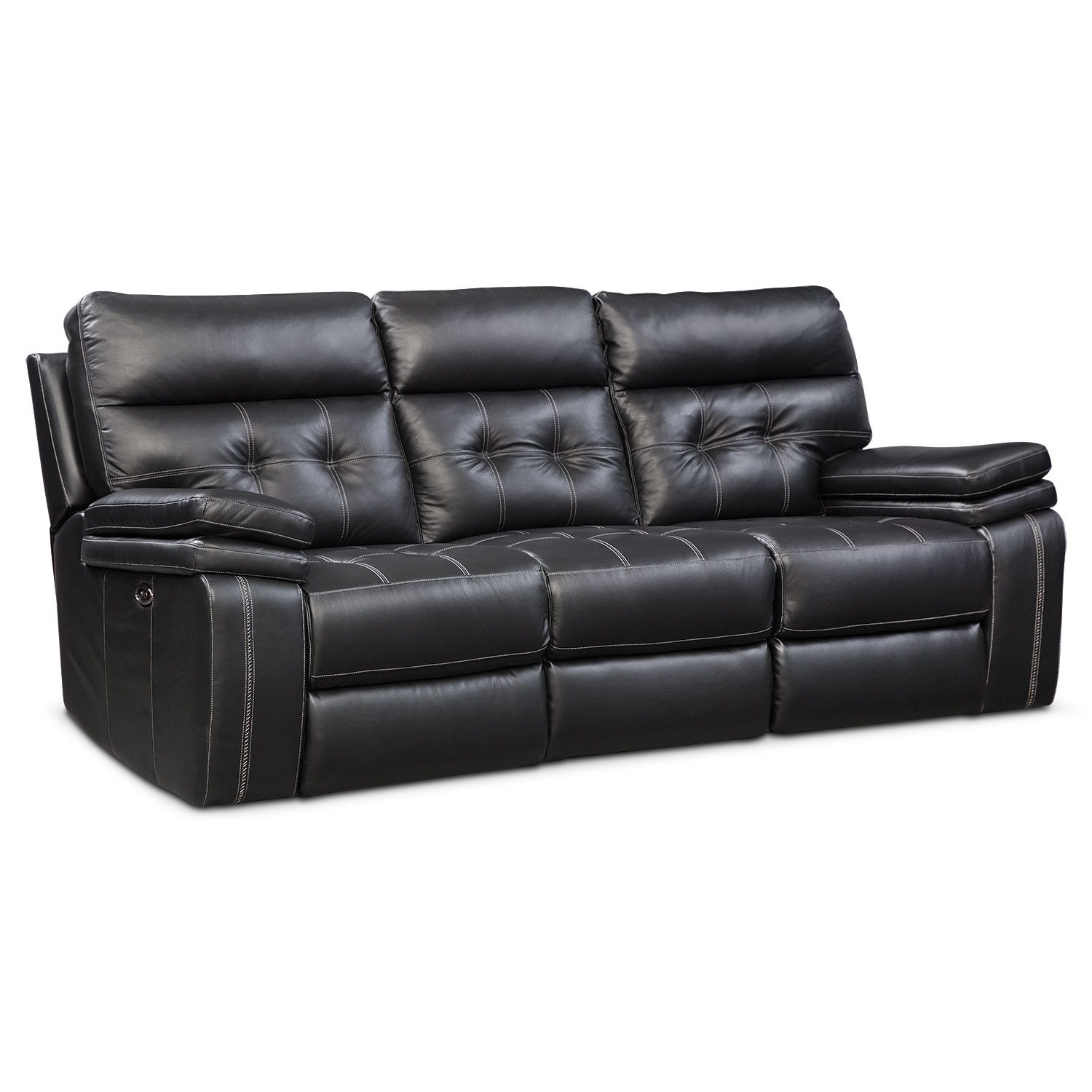 Brisco Power Reclining Sofa Reclining Loveseat And Glider Recliner Set Black American