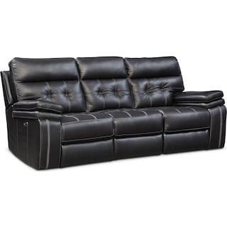 Brisco Dual-Power Reclining Sofa - Black