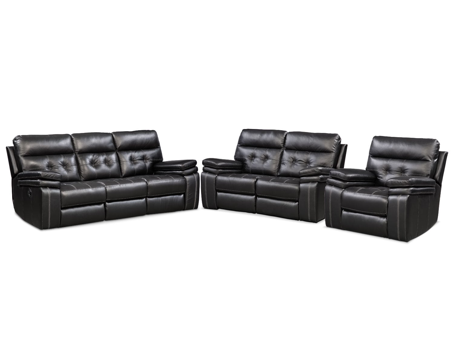 The Brisco Manual Reclining Collection - Black | American Signature ...