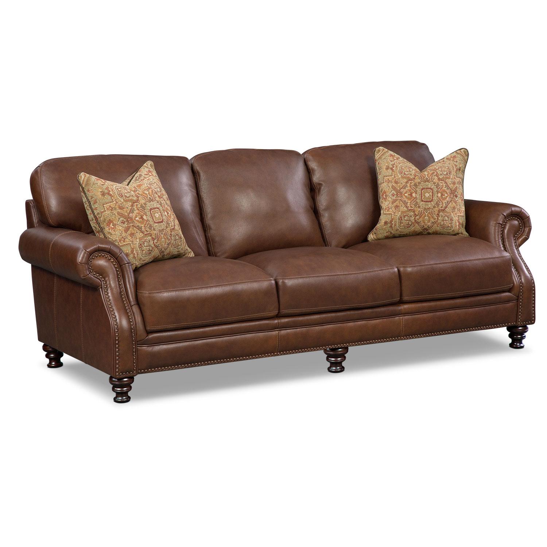 Living Room Furniture - Carrington Tobacco Sofa