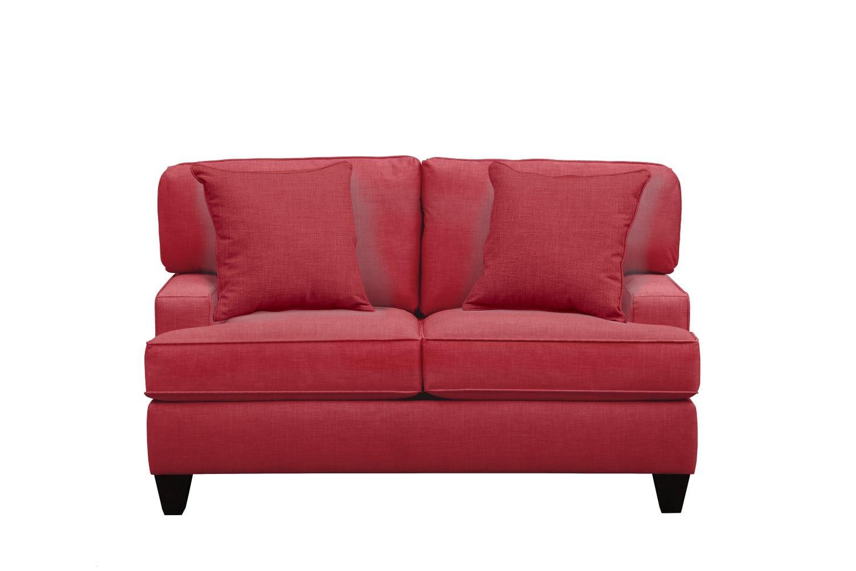 "Living Room Furniture - Conner Track Arm Sofa 63"" Oakley III Tomato w/ Oakley III Tomato Pillow"
