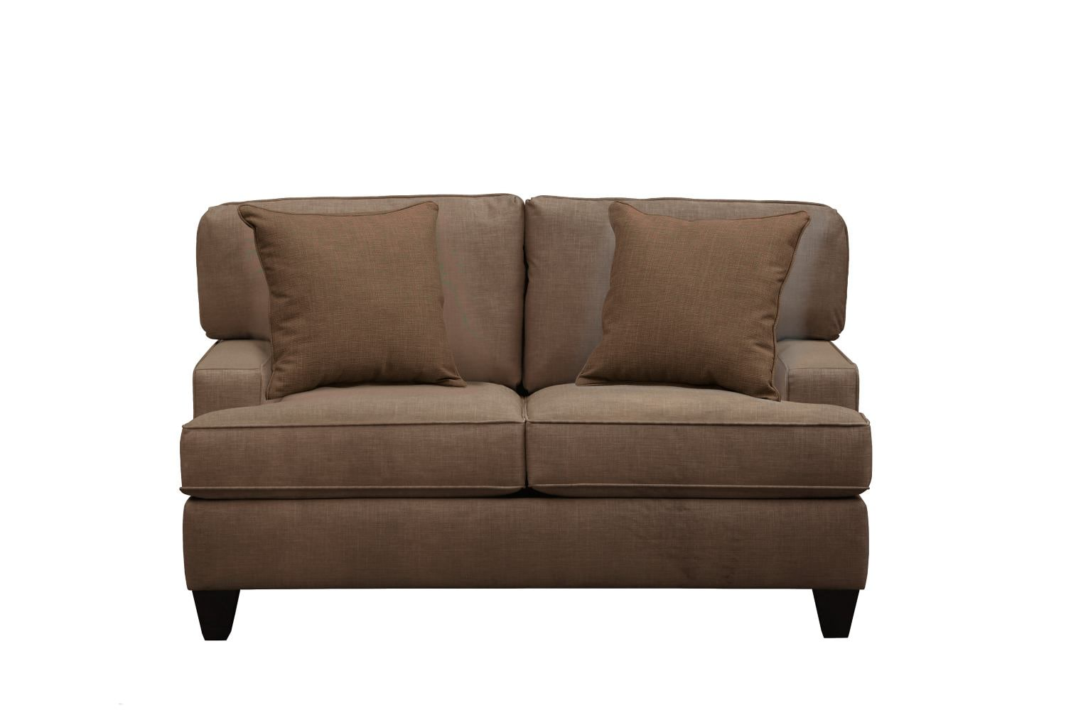 "Living Room Furniture - Conner Track Arm Sofa 63"" Oakley III Java w/ Oakley III Java Pillow"