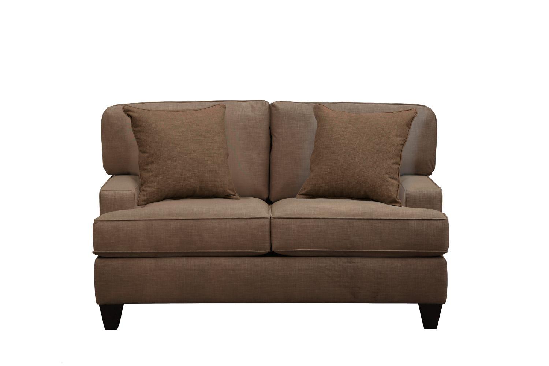 "Living Room Furniture - Conner Track Arm Sofa 63"" Oakley III Java w/ Oakley III Java Pillow"