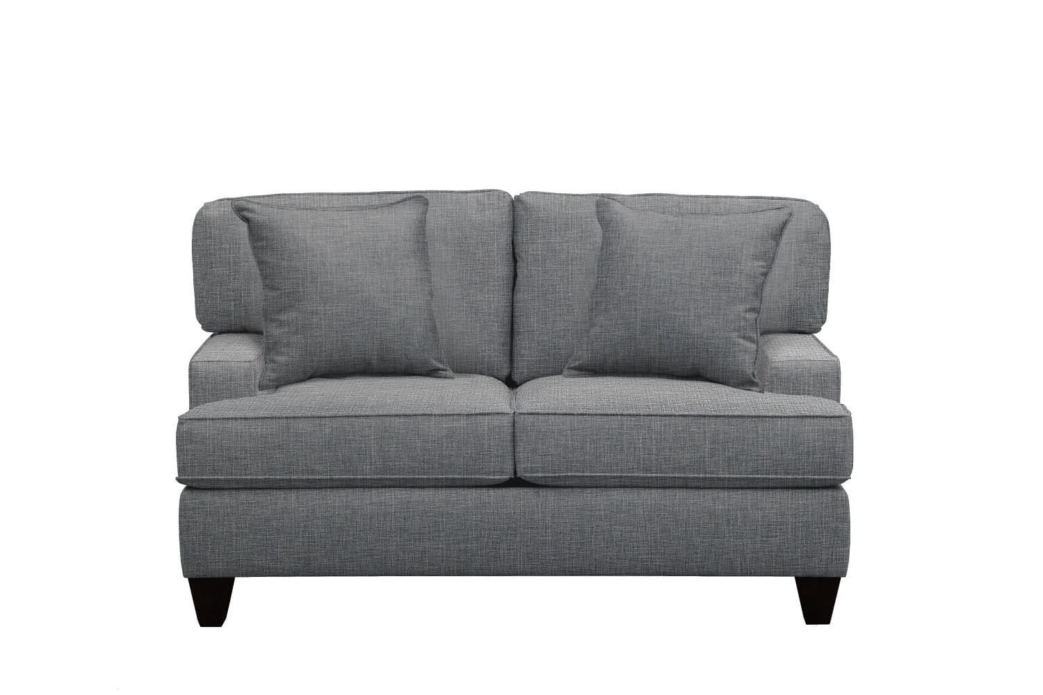 """Living Room Furniture - Conner Track Arm Sofa 63"""" Milford II Charcoal w/ Milford II Charcoal  Pillow"""
