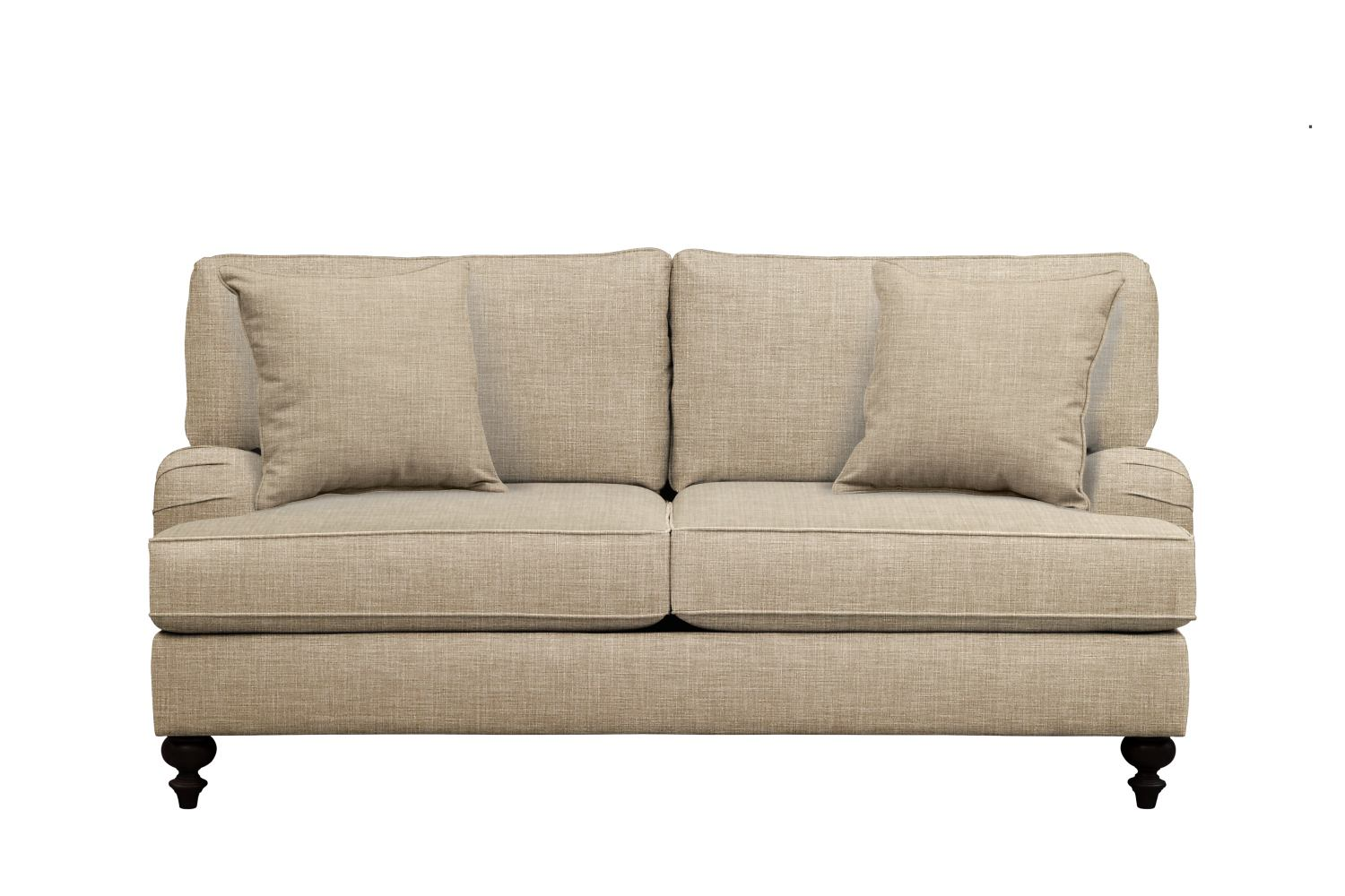 Avery english arm sofa 74quot milford ii toast w milford ii for Sofa vs couch english