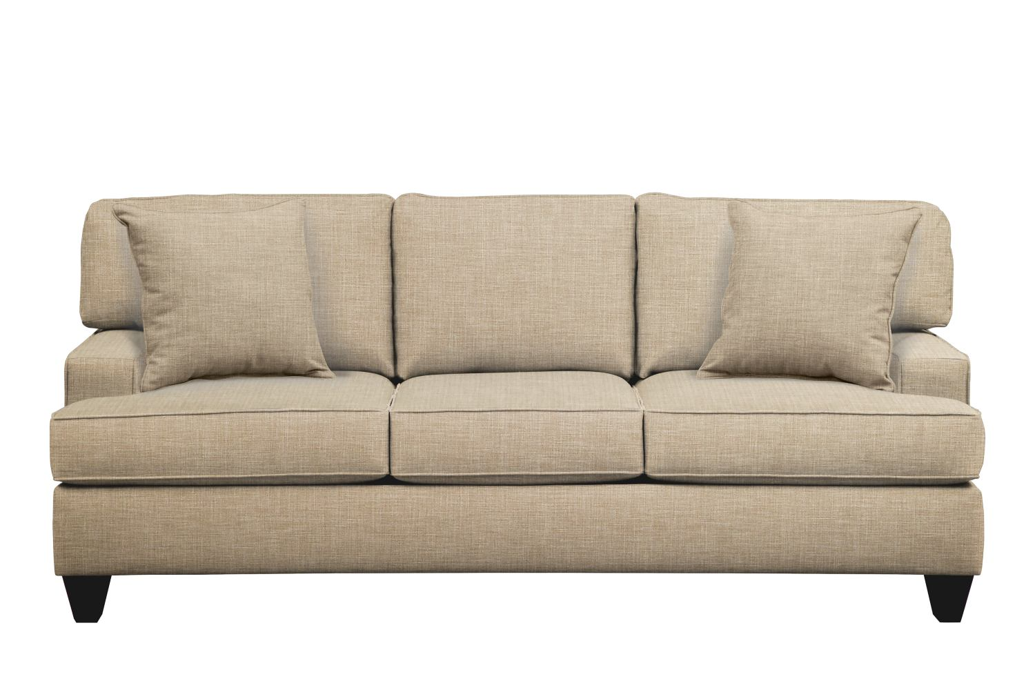 "Conner Track Arm Sofa 87"" Milford II Toast w/ Milford II Toast  Pillow"