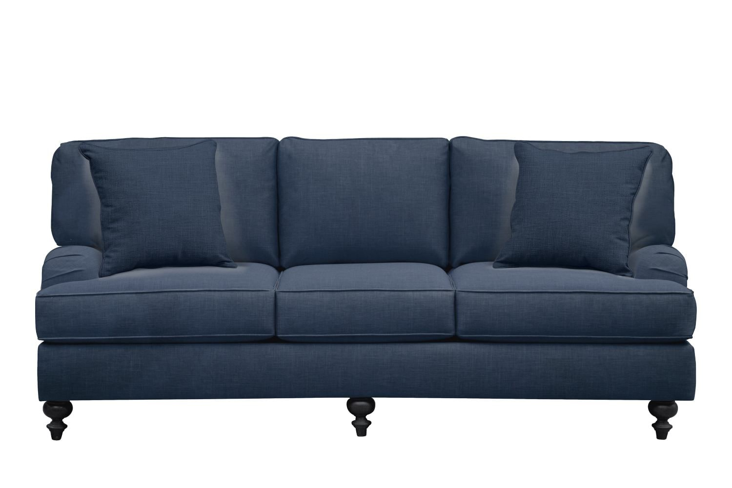 "Living Room Furniture - Avery English Arm Sofa 86"" Oakley III Ink w/ Oakley III Ink Pillow"